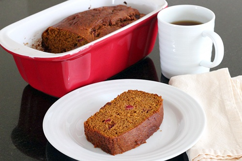 Pumpkin Cranberry Bread {Gluten-Free} |Wheat-Free Meat-Free