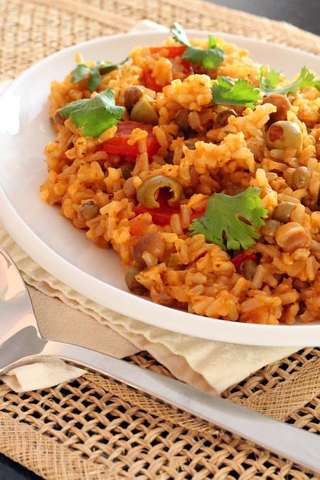 Arroz con Gandules {Gluten-Free, Vegetarian} | Wheat-Free Meat-Free