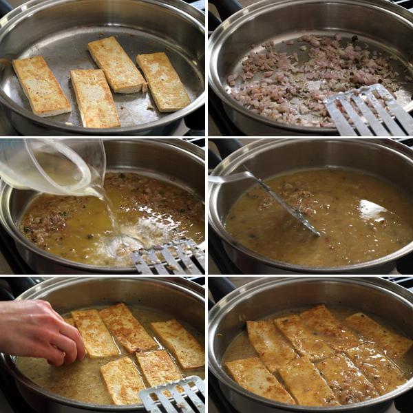 Braising Tofu