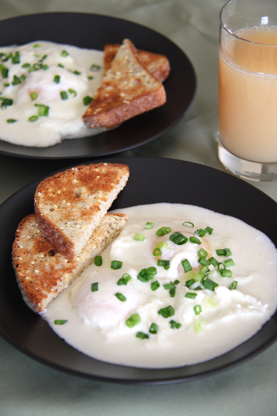 Eggs Poached in Sour Cream Sauce