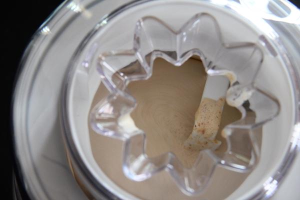 Churning Pumpkin Pie Ice Cream