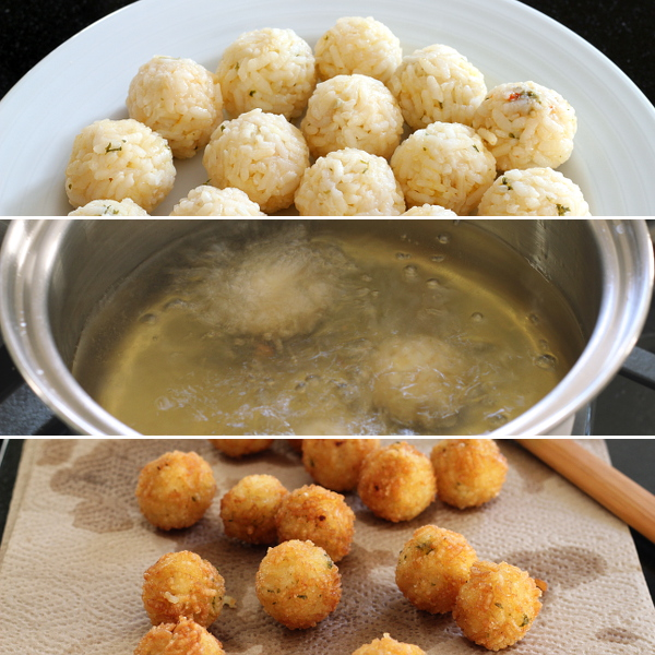 Before and After Frying