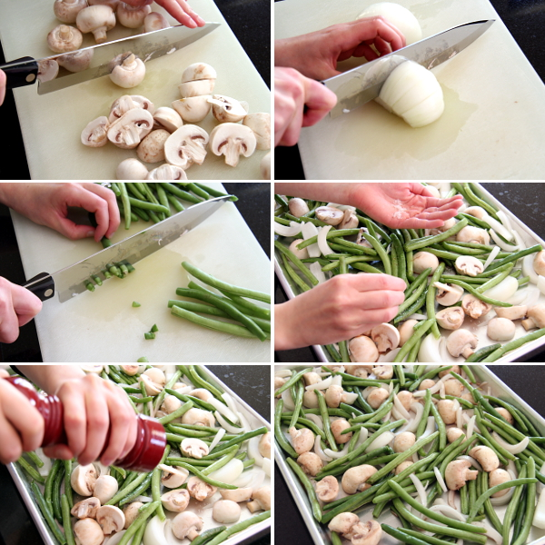 Preparing  Roasted Green Beans and Mushrooms | Wheat-Free Meat-Free