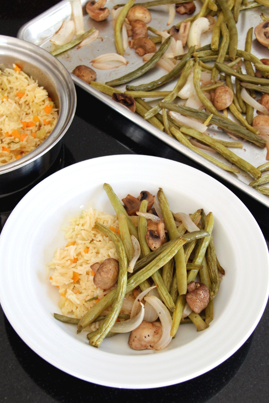 Roasted Green Beans and Mushrooms | Wheat-Free Meat-Free