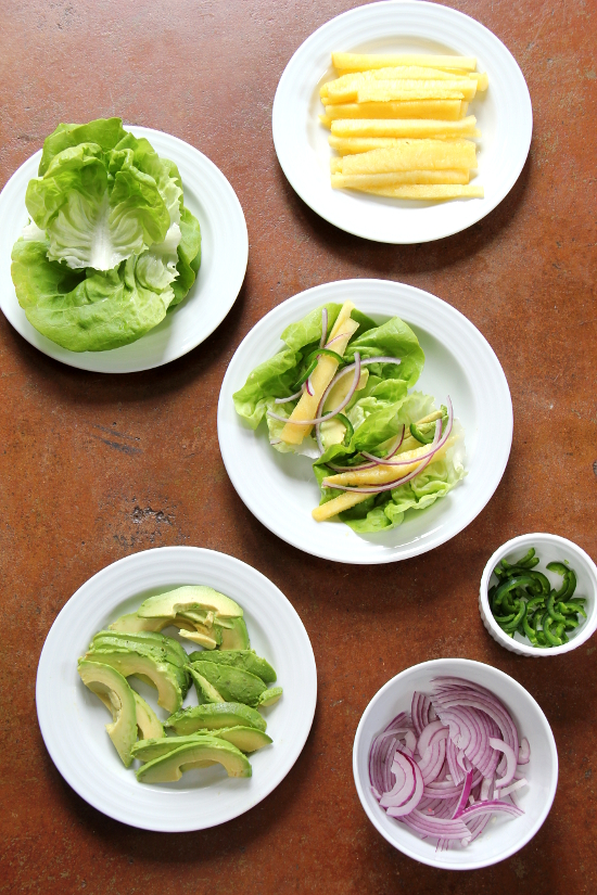 Pineapple Avocado Lettuce Wraps | Wheat-Free Meat-Free
