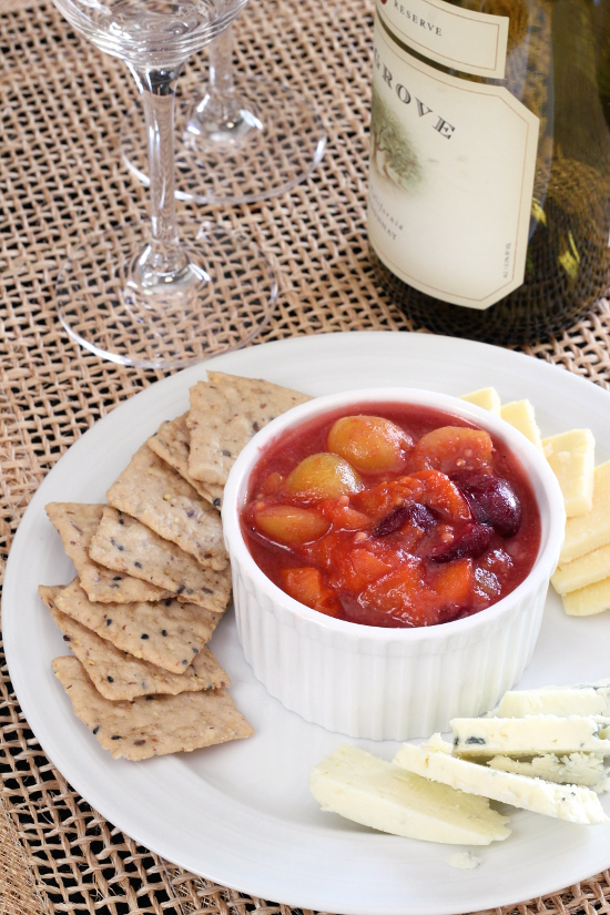 Apricot and Cherry Mostarda {Gluten-Free, Vegan} | Wheat-Free Meat-Free