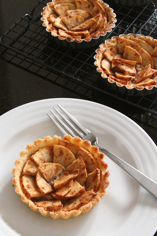 Mini Apple Tarts {Gluten-Free} | Wheat-Free Meat-Free