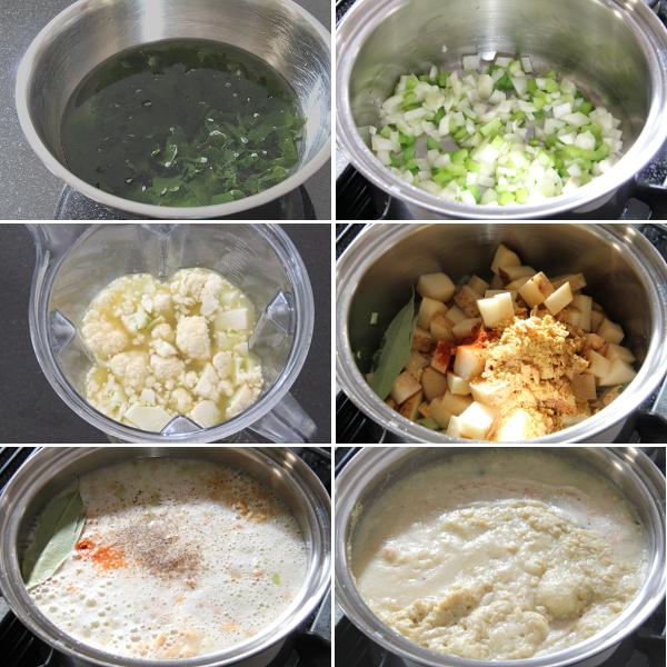 Making Cauliflower Chowder | Wheat-Free Meat-Free