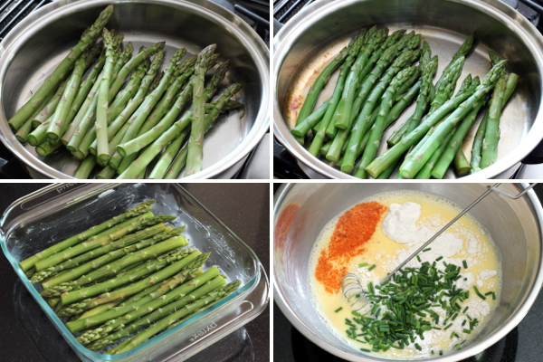 Making Asparagus Custard 1 | Wheat-Free Meat-Free